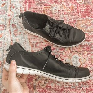✨SOLD✨ BORN BLACK LEATHER SNEAKERS